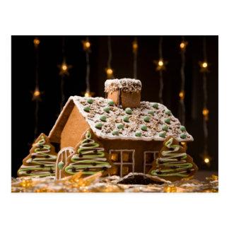 Casa de pan de jengibre 2 postales