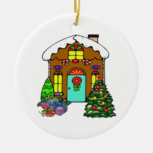 Casa de pan de jengibre adornos de navidad