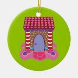 Casa de pan de jengibre del caramelo ornaments para arbol de navidad