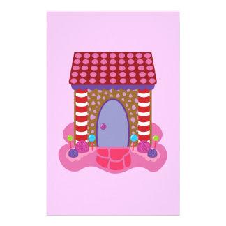 Casa de pan de jengibre del caramelo papelería personalizada