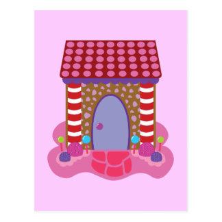 Casa de pan de jengibre del caramelo postales