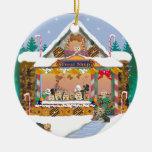 Casa de pan de jengibre del navidad de Yorkshire T Ornamento Para Arbol De Navidad
