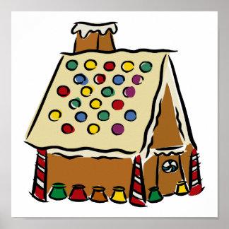 Casa de pan de jengibre póster