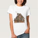 Casa de pan de jengibre remeras