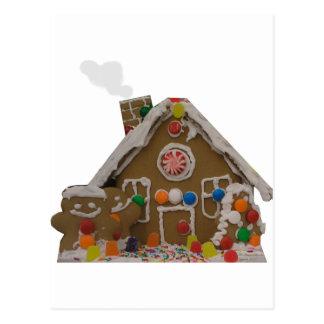 Casa de pan de jengibre tarjeta postal