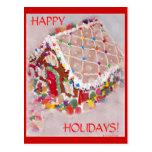 Casa de pan de jengibre tarjetas postales