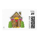 Casa de pan de jengibre y hombre sellos