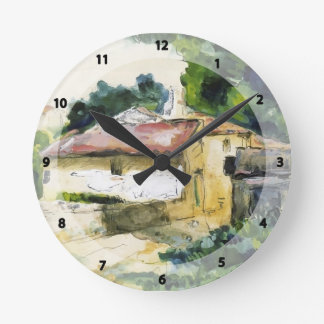 Casa de Paul Cezanne- en Provence Reloj Redondo Mediano