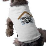 Casa de perro del código de QR Ropa De Mascota