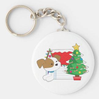 Casa de perro del navidad llavero personalizado