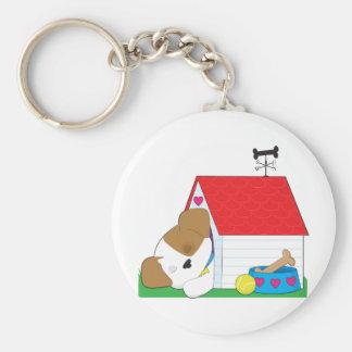 Casa de perro linda de perrito llavero personalizado