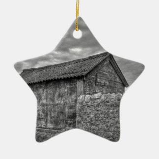 Casa de piedra vieja en Lancashire Adorno De Cerámica En Forma De Estrella