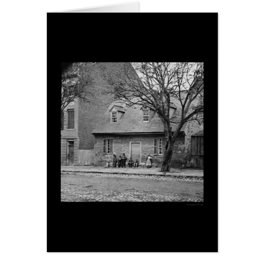 Casa de piedra vieja en Richmond, VA 1865 Tarjeta De Felicitación