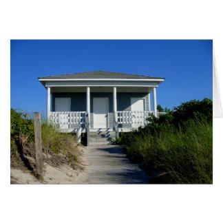 casa de planta baja de la playa tarjeta pequeña
