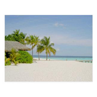Casa de planta baja y playa en los Maldivas Postales