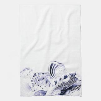 Casa de playa artística simple de los Seashells de Toallas De Mano