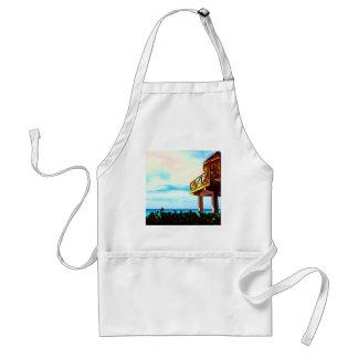 Casa de playa con vista al mar delantales