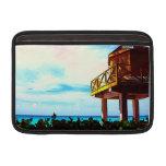 Casa de playa con vista al mar funda  MacBook