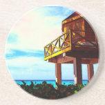Casa de playa con vista al mar posavasos para bebidas