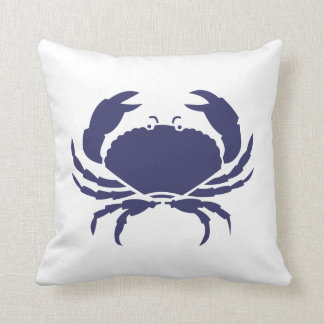 Casa de playa del ~ del cangrejo azul cojín decorativo