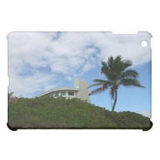 Casa de playa en la colina con el cielo y la palme