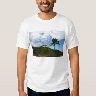 Casa de playa en la colina con el cielo y la polera