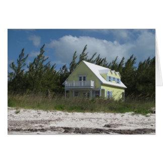 Casa de playa felicitación