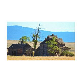 Casa de rancho histórica hermosa impresion en lona