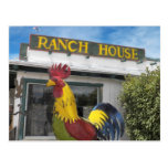 Casa de rancho tarjetas postales