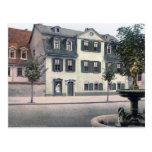 Casa de Schiller Tarjeta Postal