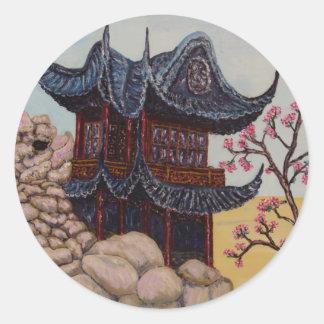 Casa de Shangai Pegatina Redonda