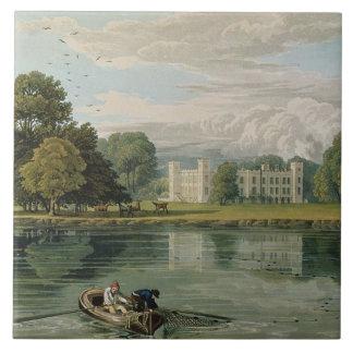 Casa de Sion, grabada por Roberto Havell (1769-183 Azulejo Cuadrado Grande