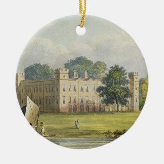 Casa de Sion, Repos de R. Ackermann (1764-1834) Adorno Navideño Redondo De Cerámica