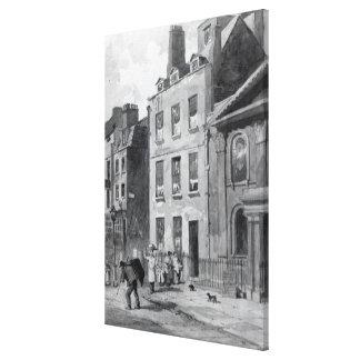 Casa de sir Isaac Newton Impresión En Lienzo