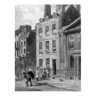 Casa de sir Isaac Newton Tarjeta Postal