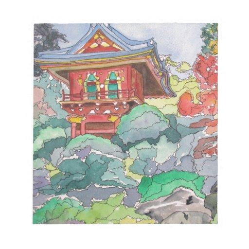 Casa de té en la pintura de la acuarela de San Fra Blocs De Notas