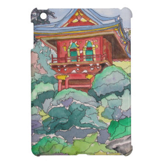 Casa de té en la pintura de la acuarela de San Fra iPad Mini Protectores