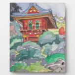 Casa de té en la pintura de la acuarela de San Fra Placa Para Mostrar