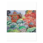 Casa de té en la pintura de la acuarela de San Fra Postal