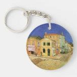 Casa de Van Gogh Vincent en Arles, bella arte Llavero Redondo Acrílico A Doble Cara