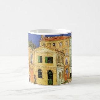 Casa de Van Gogh Vincent en Arles, bella arte Taza Clásica