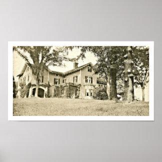 Casa de verano de Abraham Oakey Pasillo en las col Poster