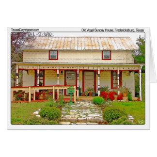 Casa de Vogel domingo, Fredericksburg, TX Tarjeta Pequeña