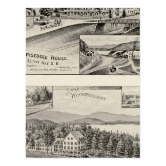 Casa de Winnipiseogee, casa de la orilla del lago Postales