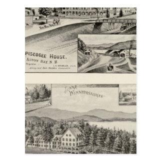 Casa de Winnipiseogee casa de la orilla del lago Tarjetas Postales