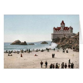 Casa del acantilado del vintage del KRW, tarjeta d