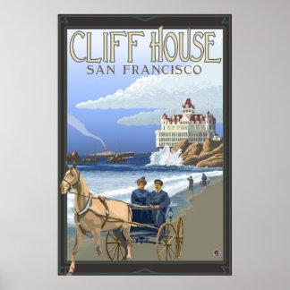 Casa del acantilado - San Francisco poster del vi