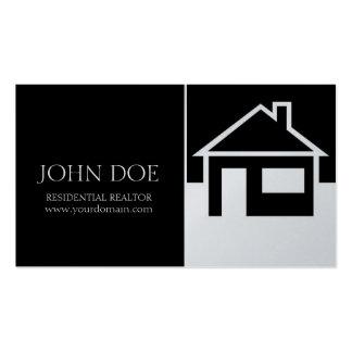 Casa del agente inmobiliario/papel negro del plati plantillas de tarjetas personales
