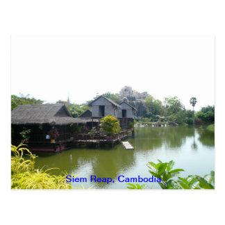 Casa del agua en Siem Reap Tarjetas Postales