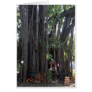 Casa del alcohol y árbol de Bodhi Tarjeta De Felicitación